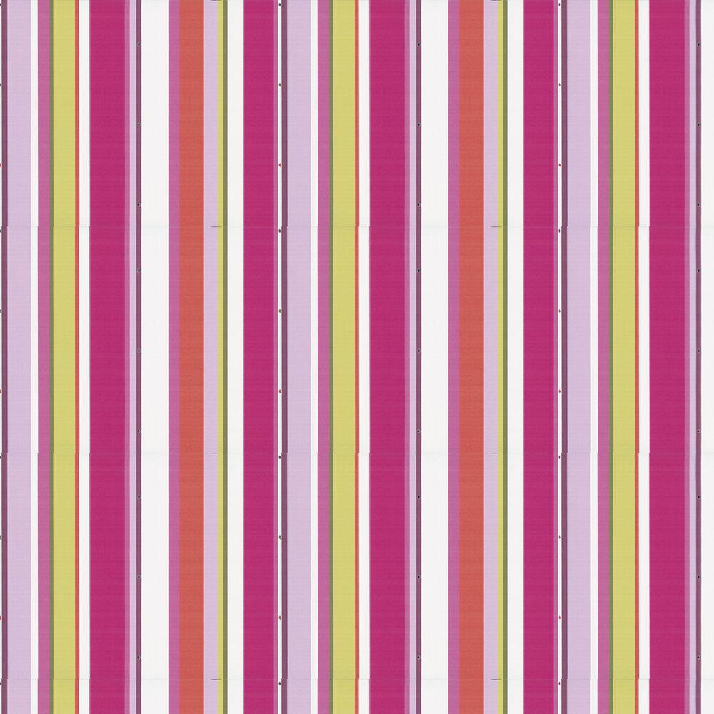 Blossom Wallpaper - Pink / Orange / Green - by Kandola