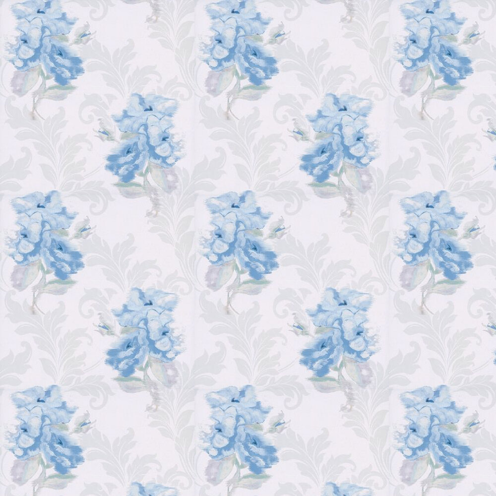 Kandola Shadow Wallpaper Cream / Blue - Product code: DW1565/02/001