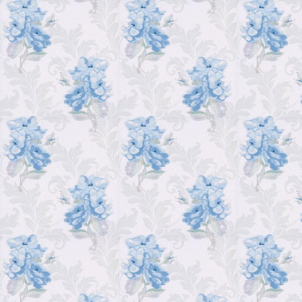 Shadow Wallpaper - Cream / Blue - by Kandola