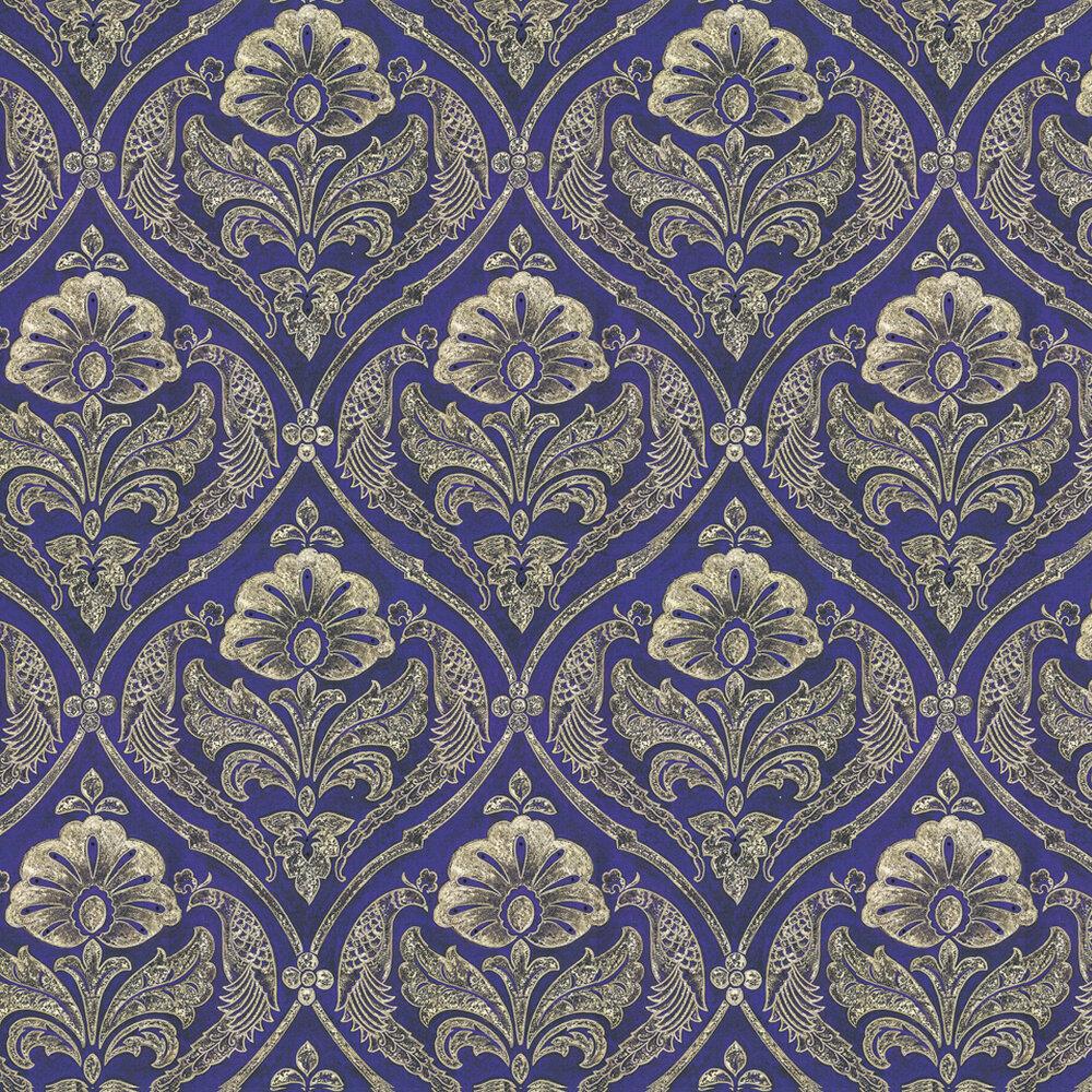 Paradise Wallpaper - Purple / Gold - by Kandola