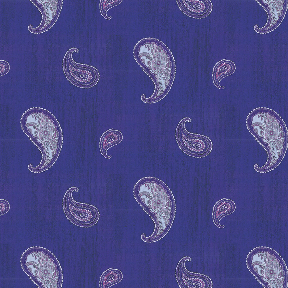 Kandola Monsoon Applique Purple Wallpaper - Product code: DW1571/01/APP/001