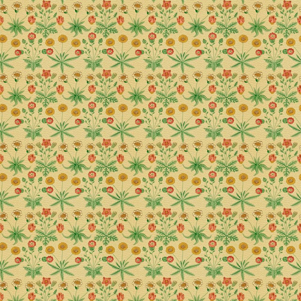 Daisy Wallpaper - Manilla / Russet - by Morris