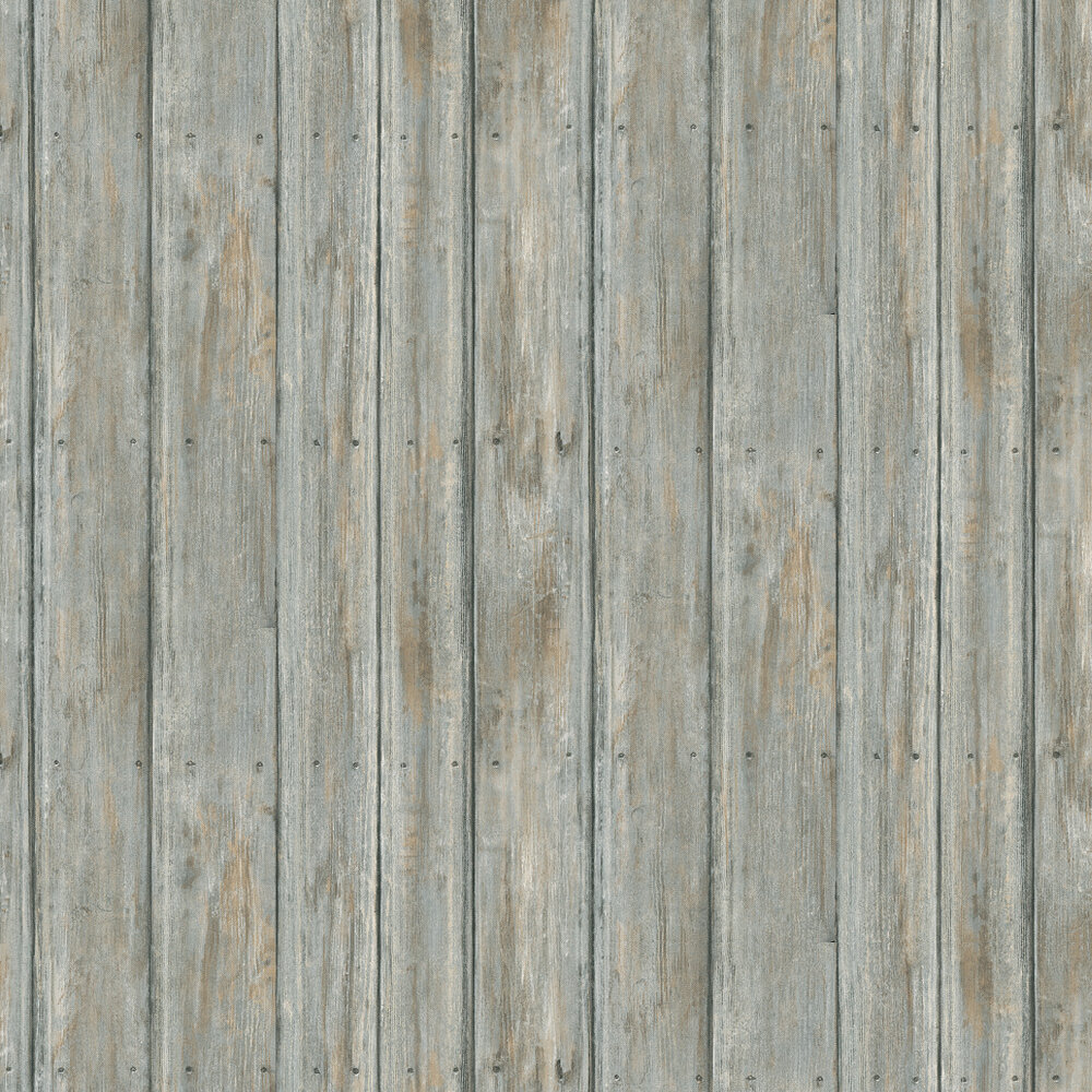 Timber Wallpaper - Blue Grey - by Andrew Martin
