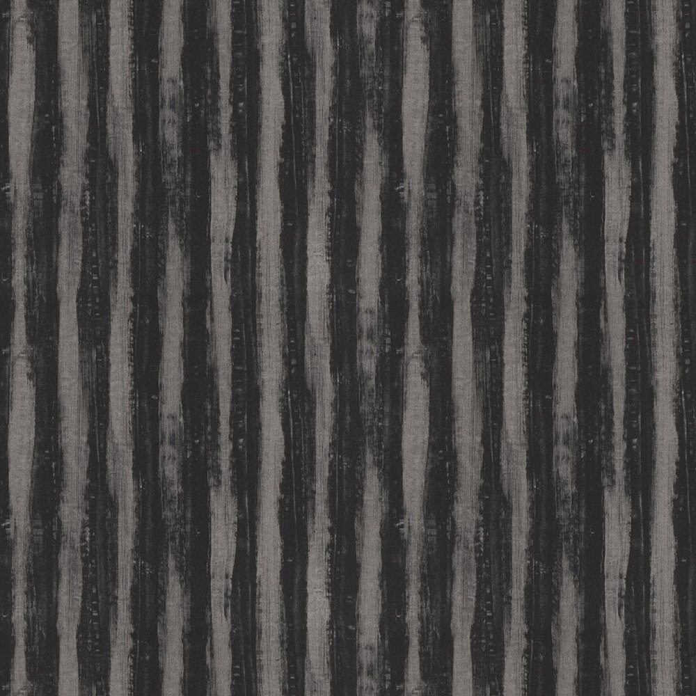 JAB Anstoetz  Splendid Stripe Black / Metallic Silver Wallpaper - Product code: 4-4032-099