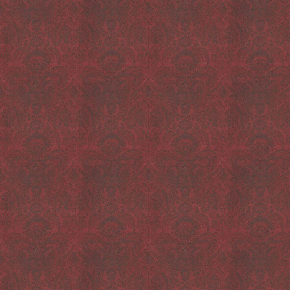 Kew Wallpaper - Red - by Andrew Martin
