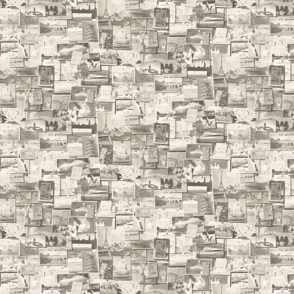Pinboard Wallpaper - Charcoal - by Andrew Martin