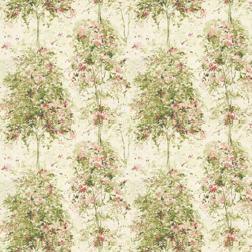 Nina Campbell Lochwood Green / Coral Wallpaper - Product code: NCW4152-01