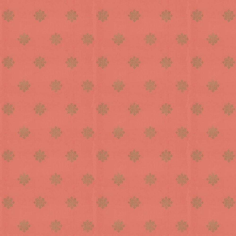Brockhampton Star Wallpaper - Gold / Deep Coral - by Farrow & Ball