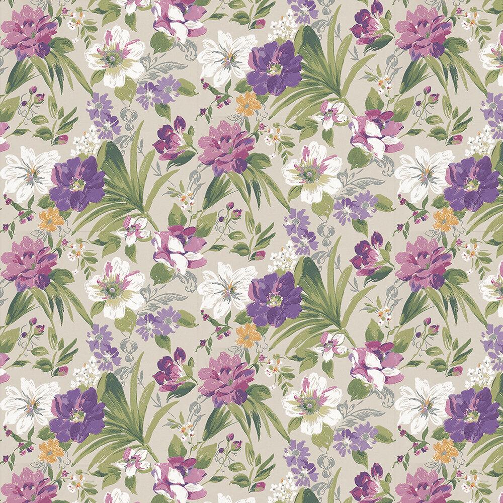 Nina Campbell Rosslyn Aqua / Magenta / Green Wallpaper - Product code: NCW4150-04
