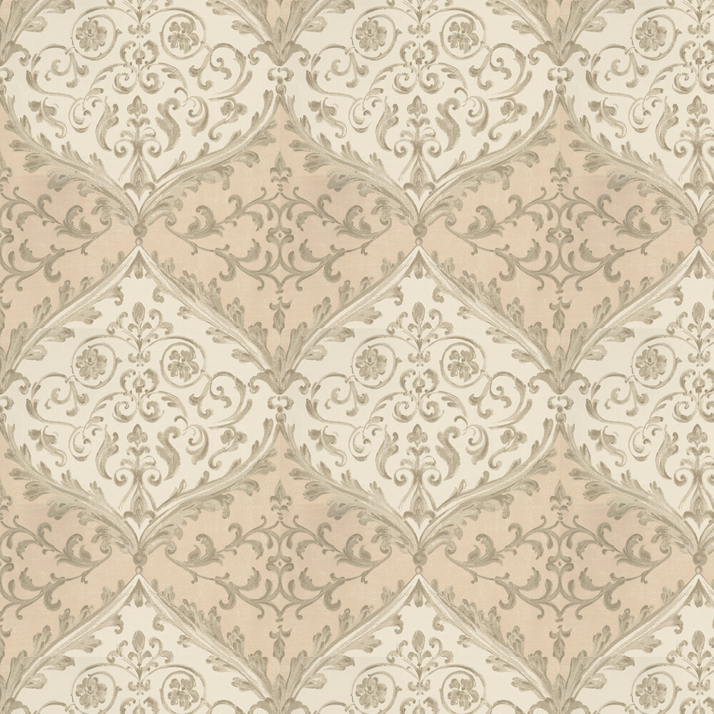 Nina Campbell Montrose Pink / Stone Wallpaper - Product code: NCW4156-03