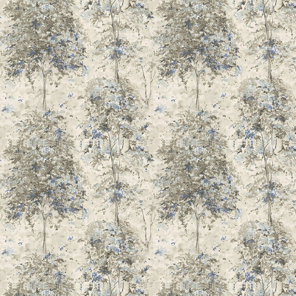 Nina Campbell Lochwood Charcoal / Indigo Wallpaper - Product code: NCW4152-04