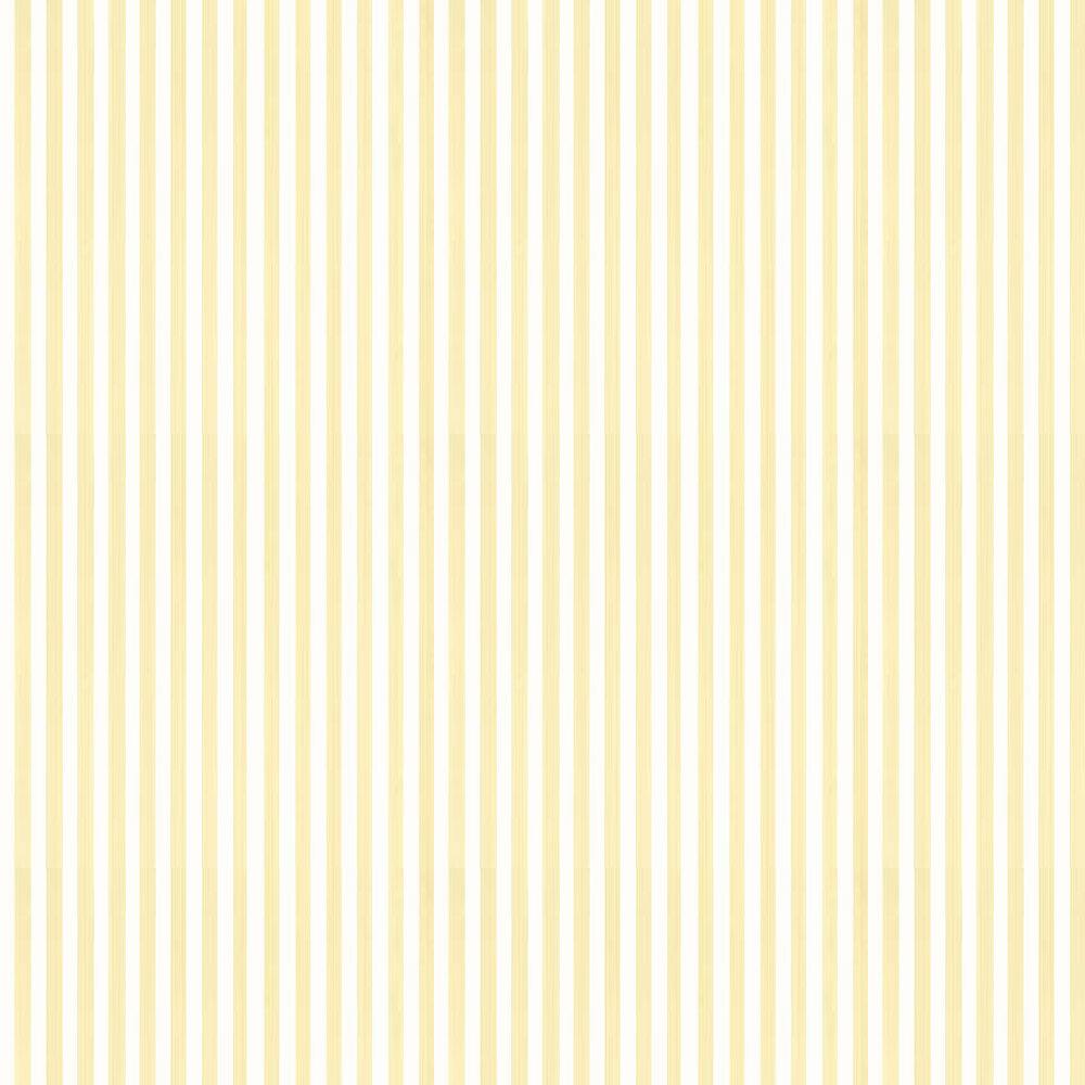 Closet Stripe Wallpaper - Pale Yellow / White - by Farrow & Ball