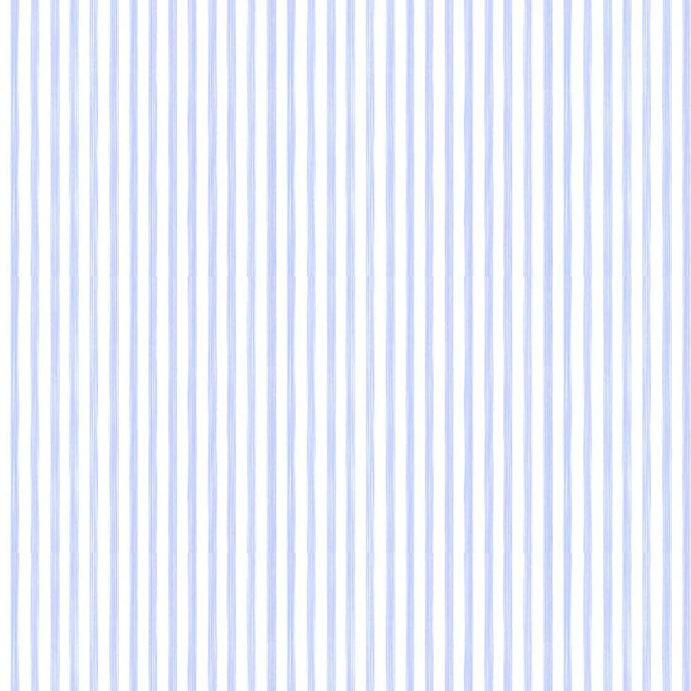 Closet Stripe Wallpaper - Sky Blue / Cream - by Farrow & Ball