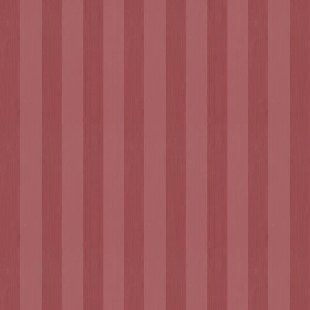 Plain Stripe Wallpaper - Cherry Red - by Farrow & Ball