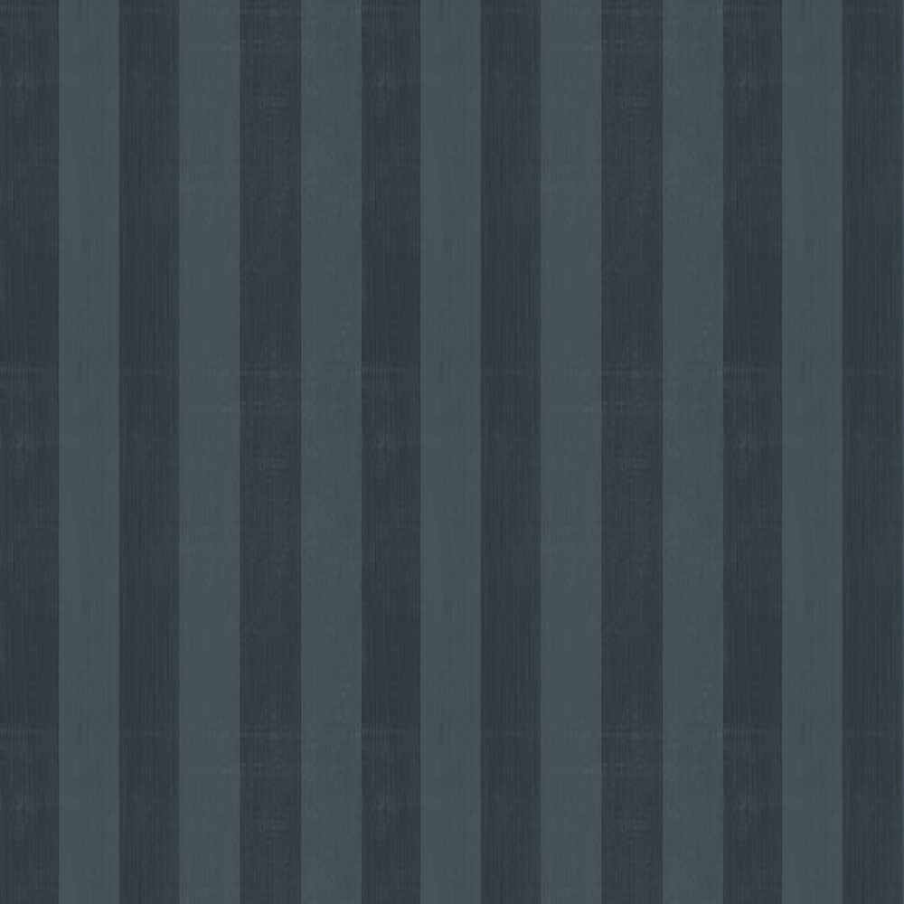 Farrow & Ball Plain Stripe Ebony Wallpaper - Product code: BP 1172