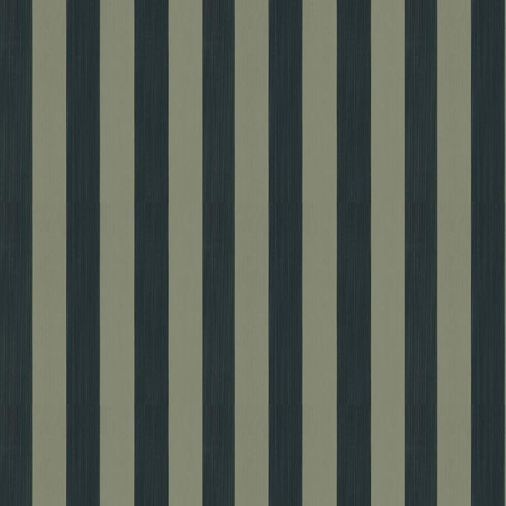 Farrow & Ball Plain Stripe Grey Green / Black Wallpaper - Product code: BP 1174