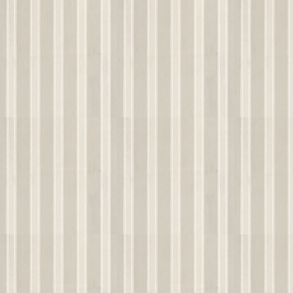 Farrow & Ball Block Print Stripe Soft Grey / Off White Wallpaper - Product code: BP 710