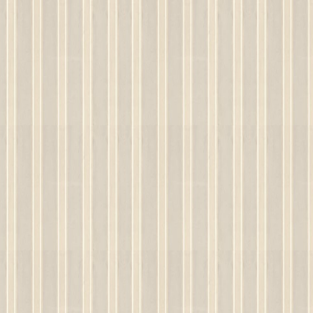 Farrow & Ball Block Print Stripe Stone / Off White / Grey Wallpaper - Product code: BP 712