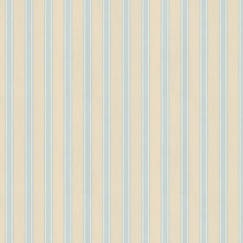 Farrow & Ball Block Print Stripe Cream / White / Blue Wallpaper - Product code: BP 744