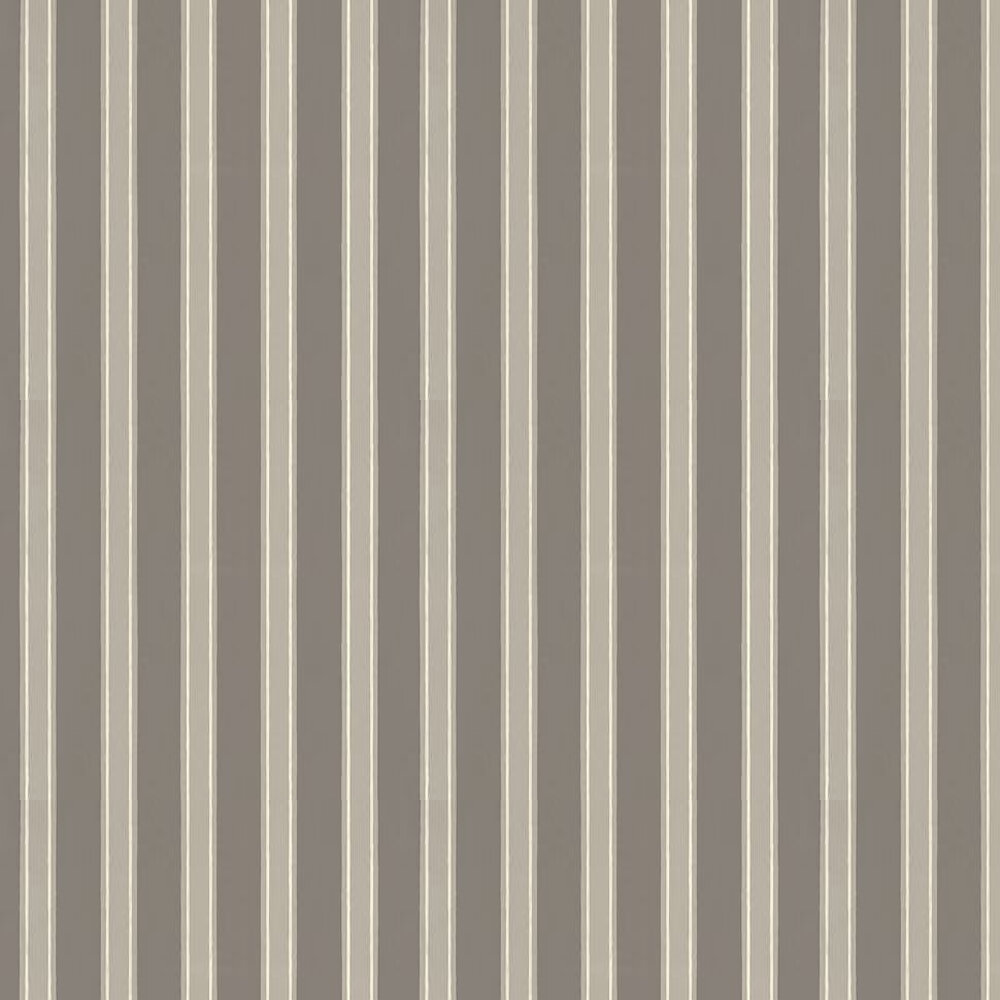 Farrow & Ball Block Print Stripe Clay / Light Grey / White Wallpaper - Product code: BP 758