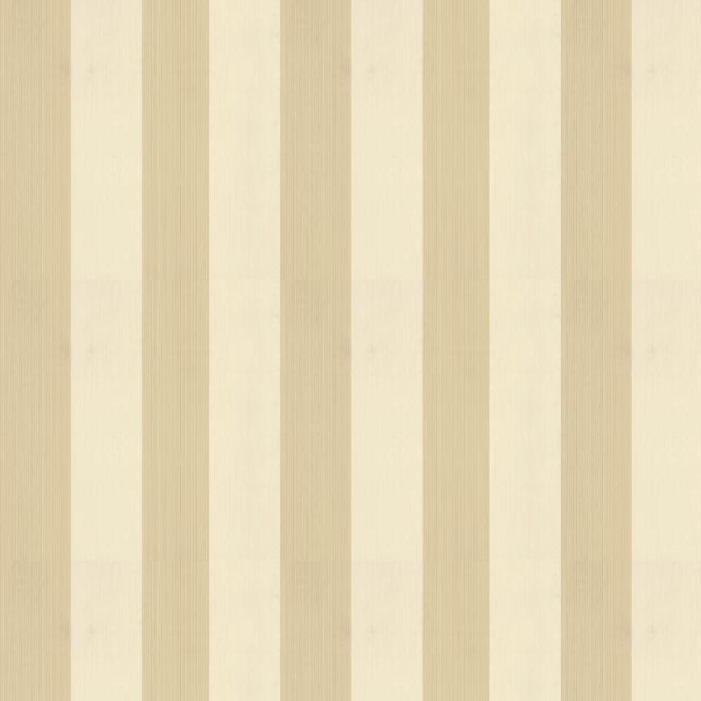 Broad Stripe Wallpaper - Cream / Caramel - by Farrow & Ball