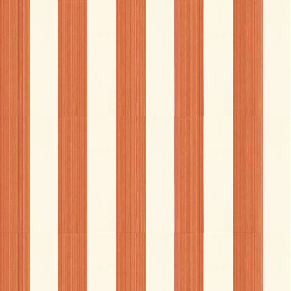 Farrow & Ball Broad Stripe Cream / Orange Wallpaper - Product code: BP 13102