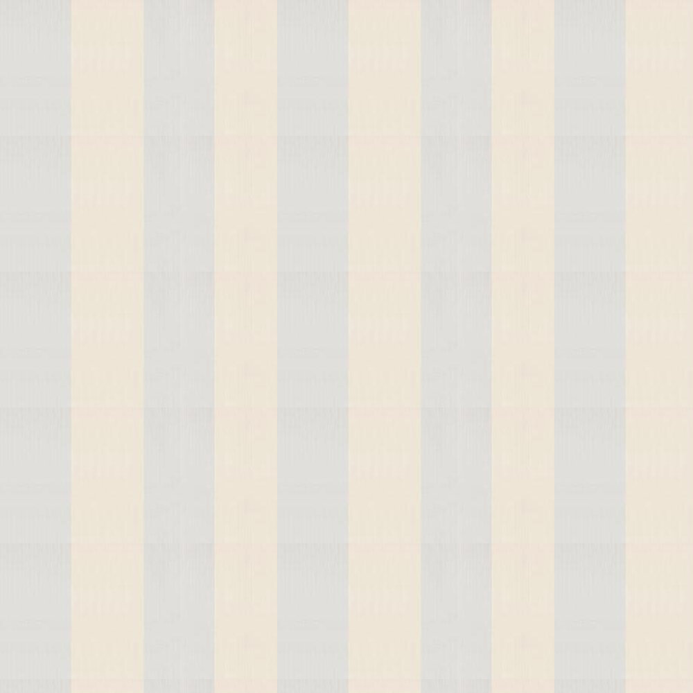 Broad Stripe Wallpaper - Off White / Sky Blue - by Farrow & Ball