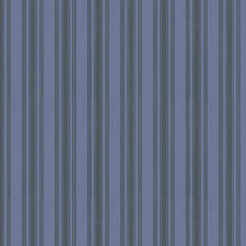 Tented Stripe Wallpaper - Midnight Blue - by Farrow & Ball