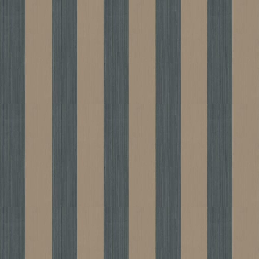 Broad Stripe Wallpaper - Brown / Black - by Farrow & Ball