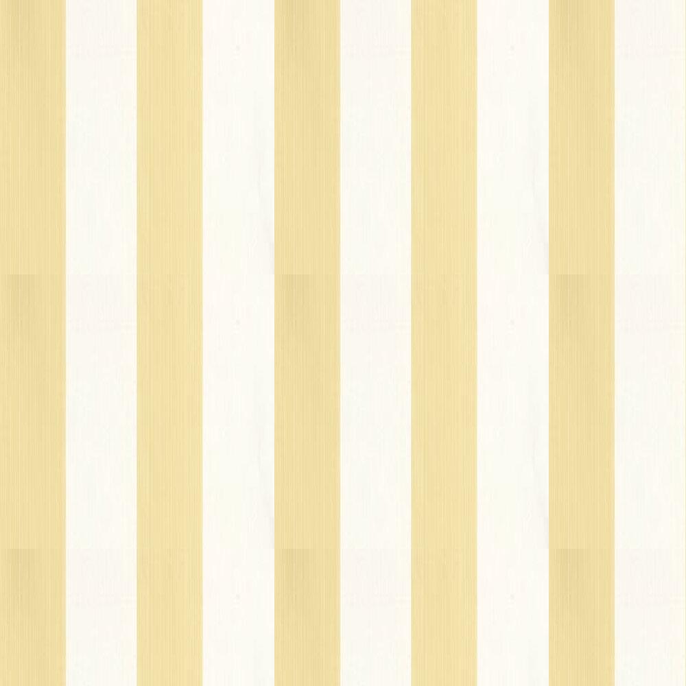 Farrow & Ball Broad Stripe Butter / White Wallpaper - Product code: BP 1319