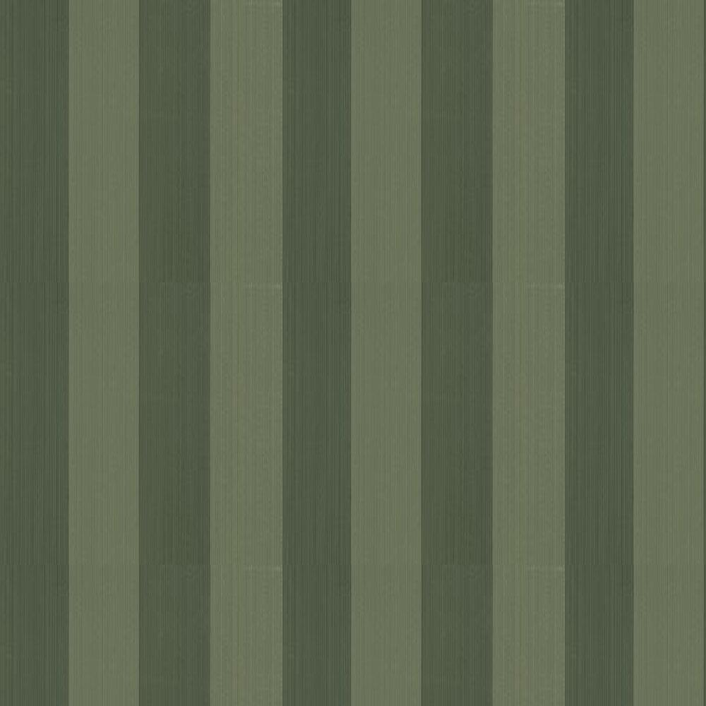 Broad Stripe Wallpaper - Green - by Farrow & Ball
