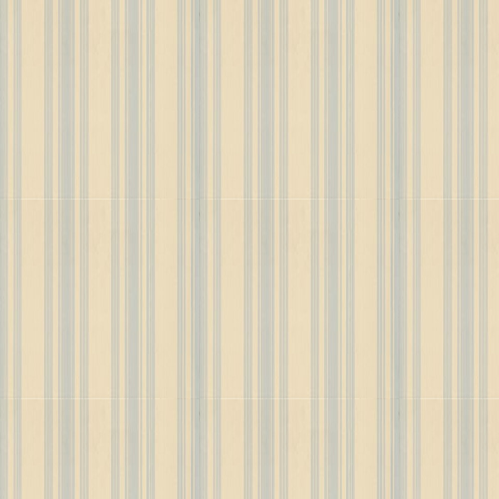Farrow & Ball Tented Stripe Sky Blue / Beige Wallpaper - Product code: BP 1368