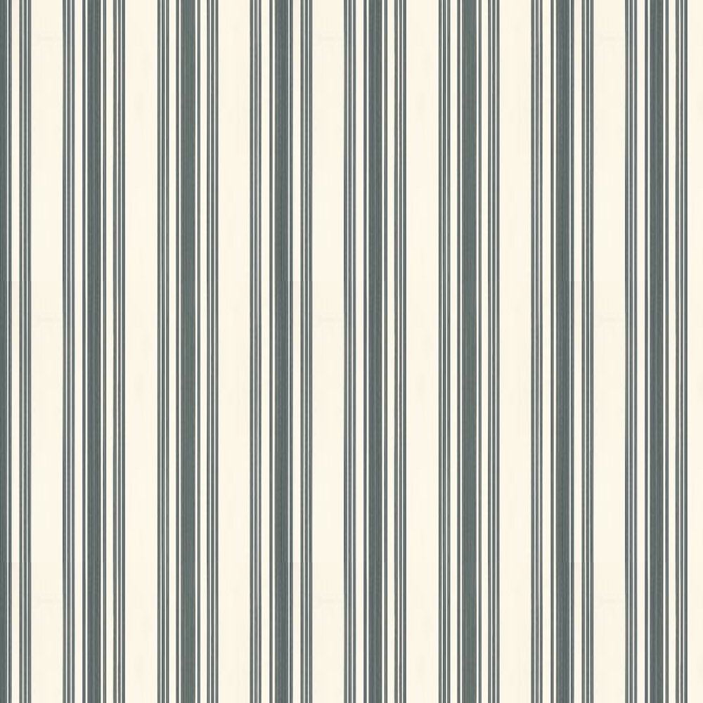 Farrow & Ball Tented Stripe Off White / Black Wallpaper - Product code: BP 1388