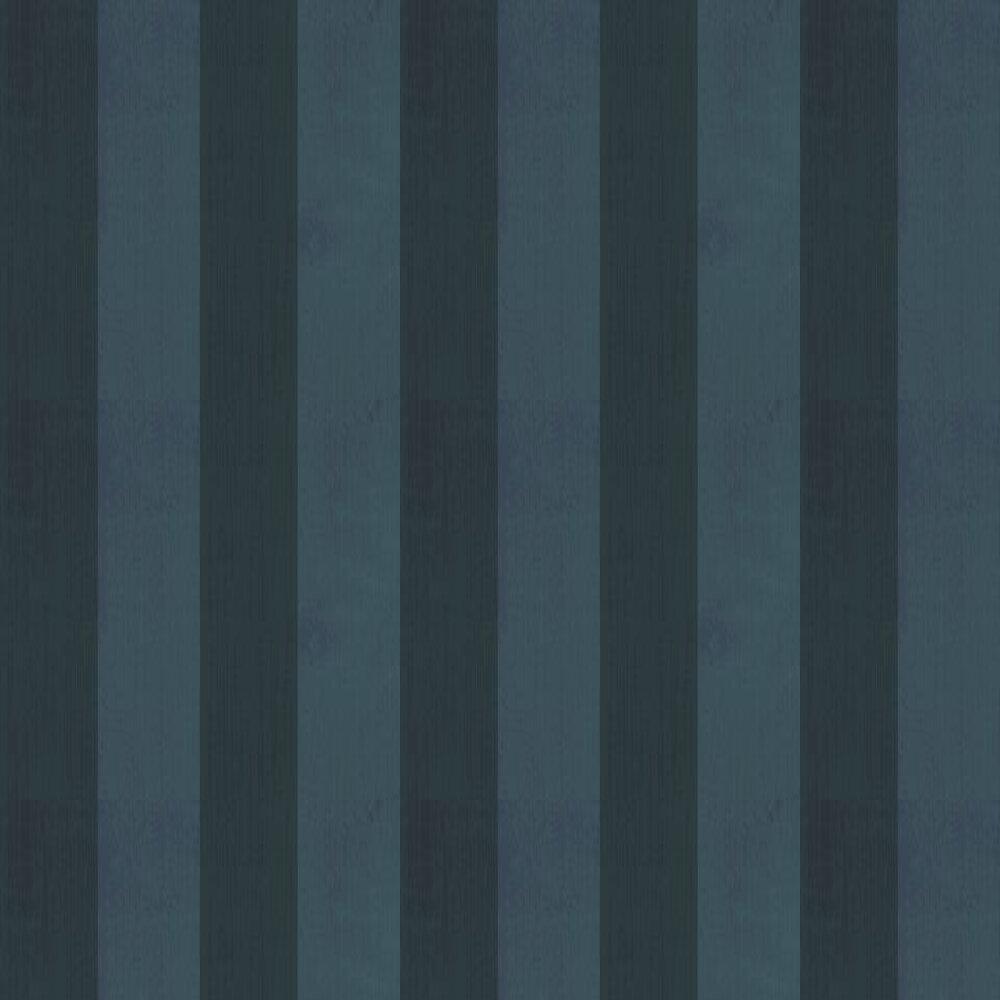 Farrow & Ball Broad Stripe Black Wallpaper - Product code: BP 1391