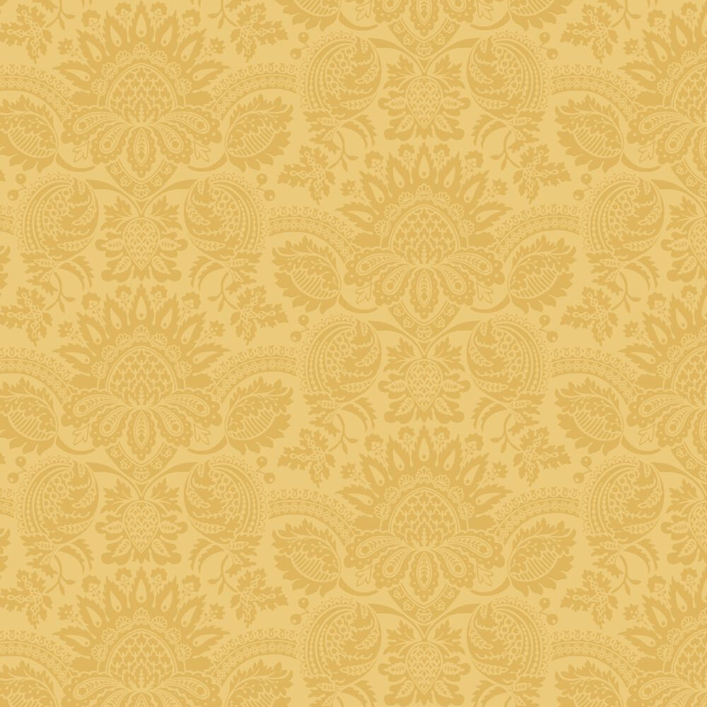 Dukes Damask By Cole Son Mustard Yellow Wallpaper
