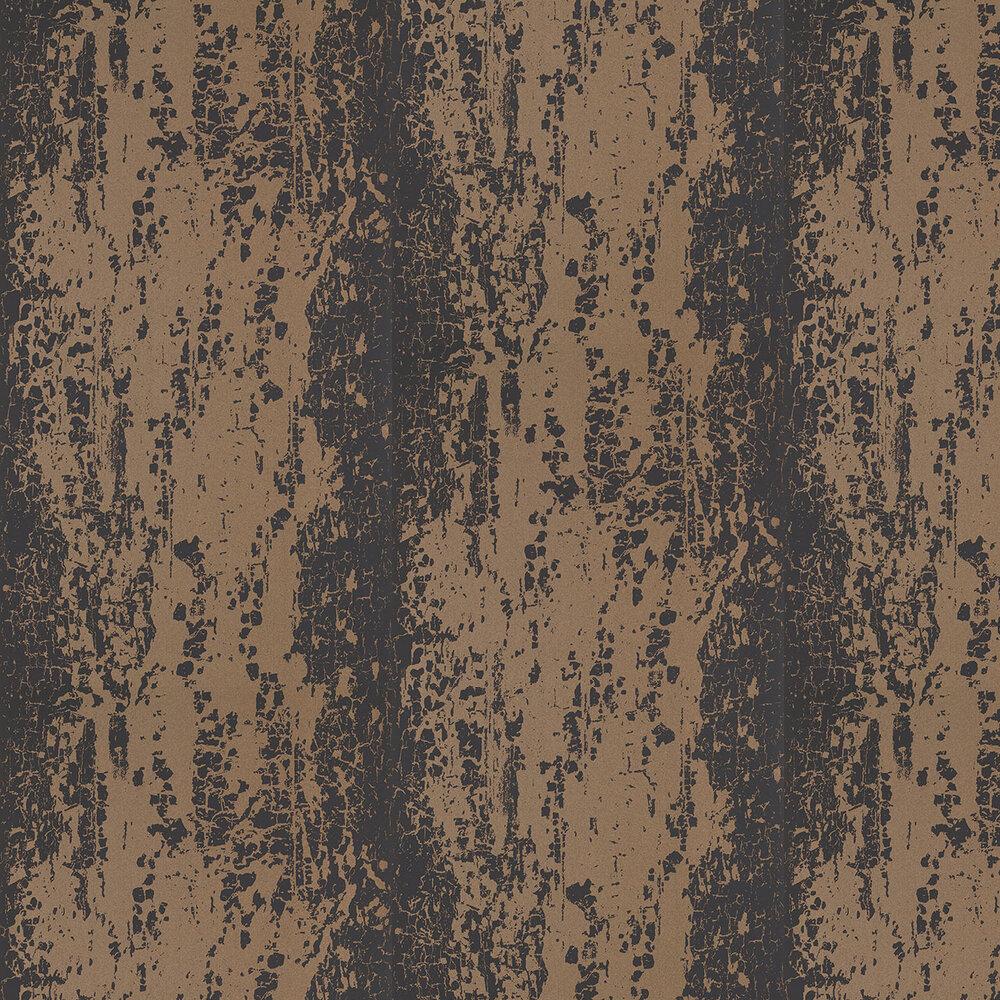 Harlequin Eglomise Onyx Black / Copper Wallpaper - Product code: 110624