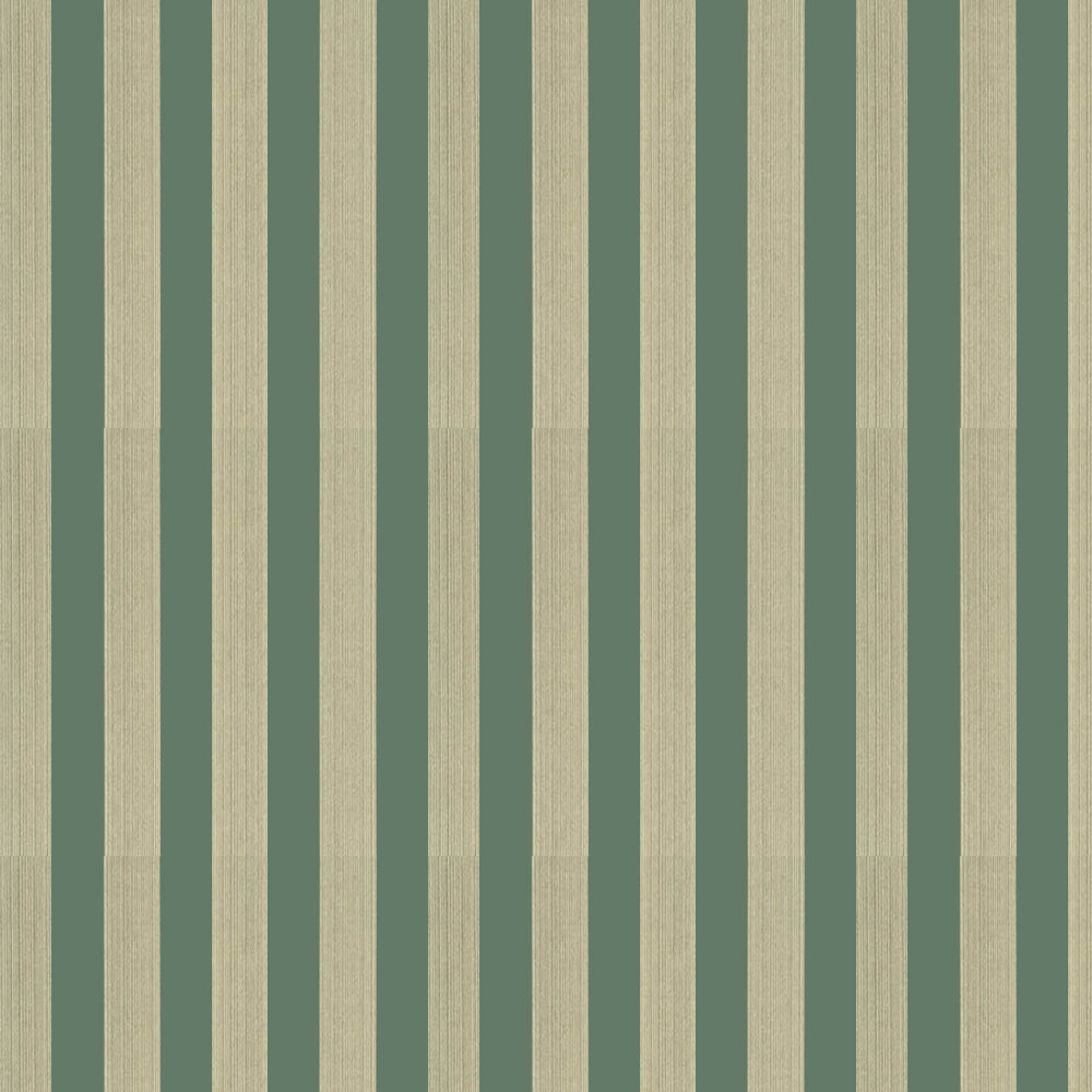 Lydford Stripe Wallpaper - Teal - by G P & J Baker