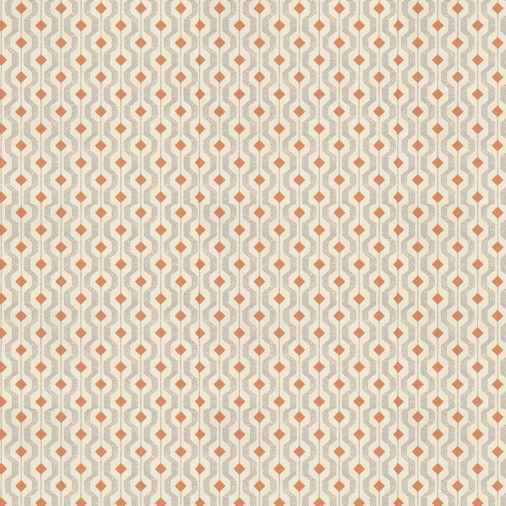 Threads Solstice Grey / Orange / Cream Wallpaper - Product code: EW15010/338