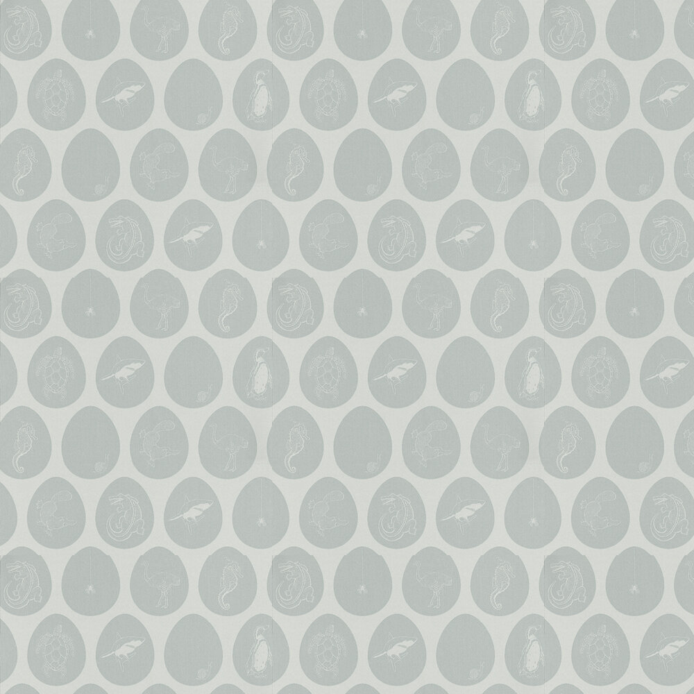 Which Came First Wallpaper - Light Blue - by PaperBoy