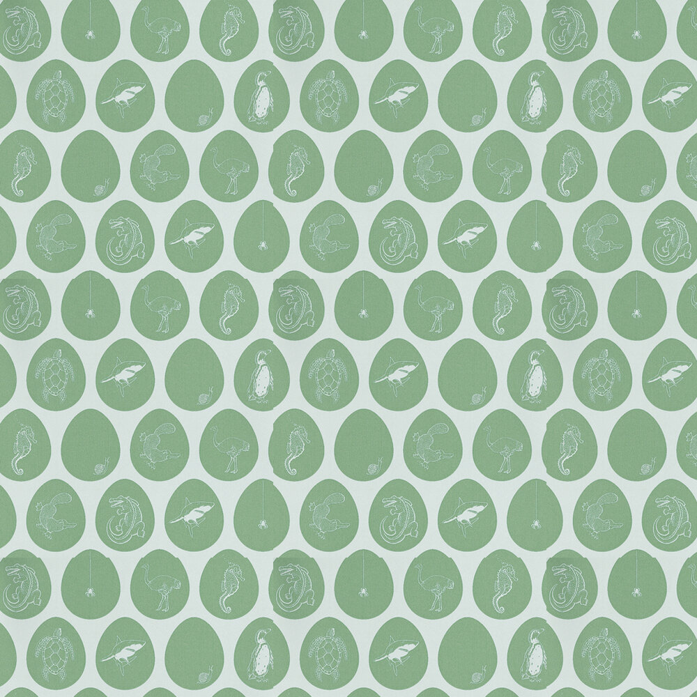 Which Came First Wallpaper - Mint - by PaperBoy