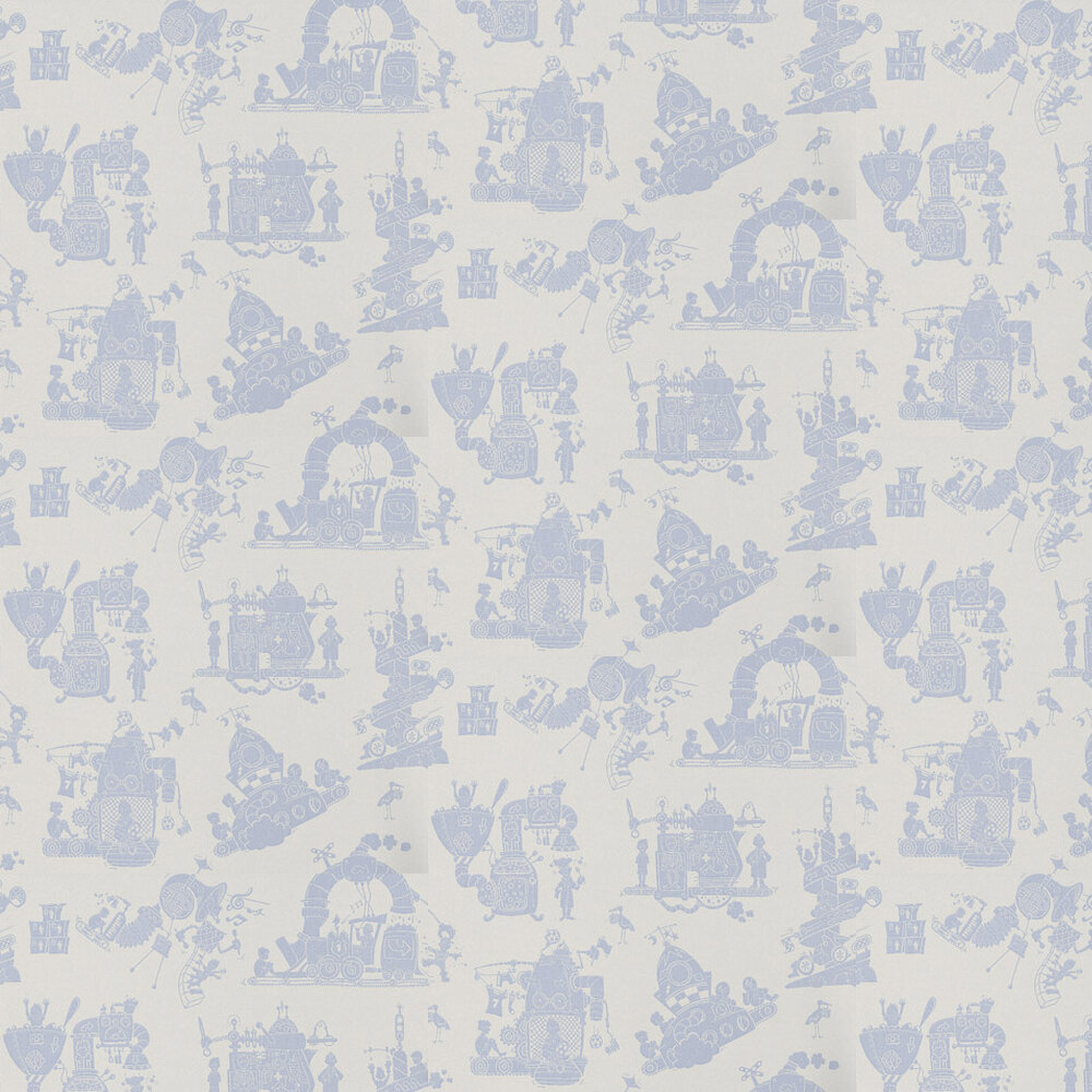 When I Grow Up Wallpaper - Blue - by PaperBoy