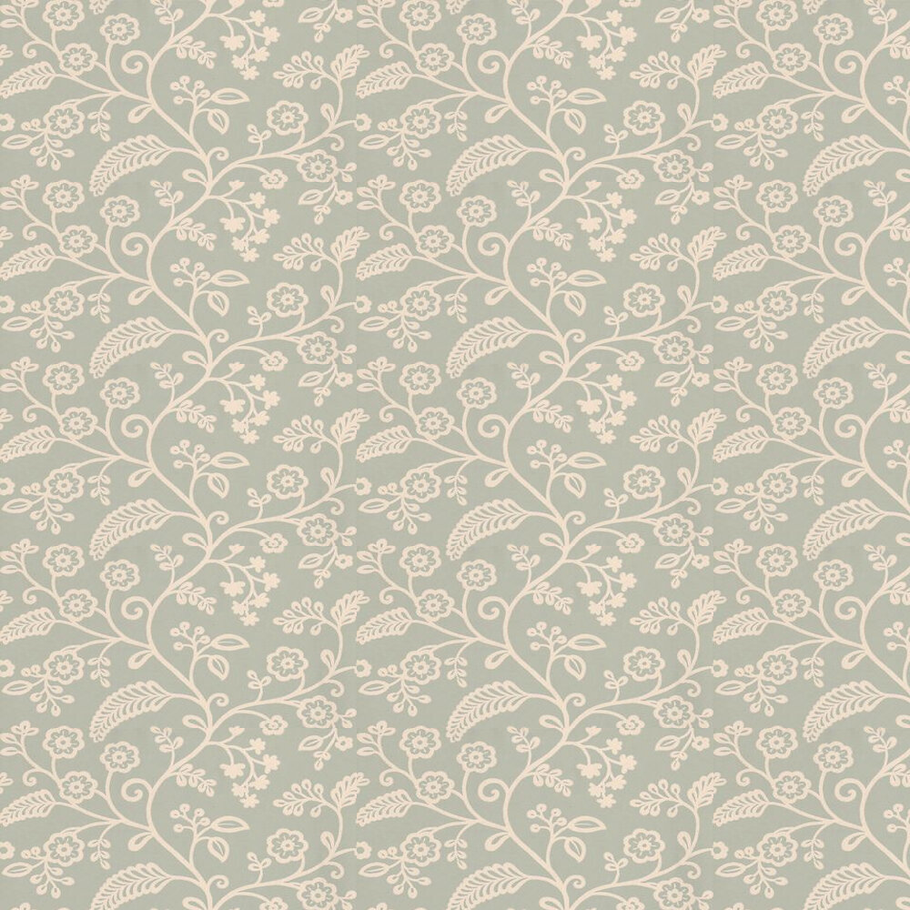 Baker Lifestyle Denbury Aqua / Cream Wallpaper - Product code: PW78029/2