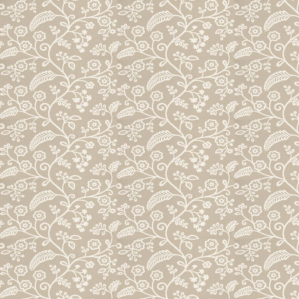 Baker Lifestyle Denbury Off White / Metallic Silver Wallpaper - Product code: PW78029/4