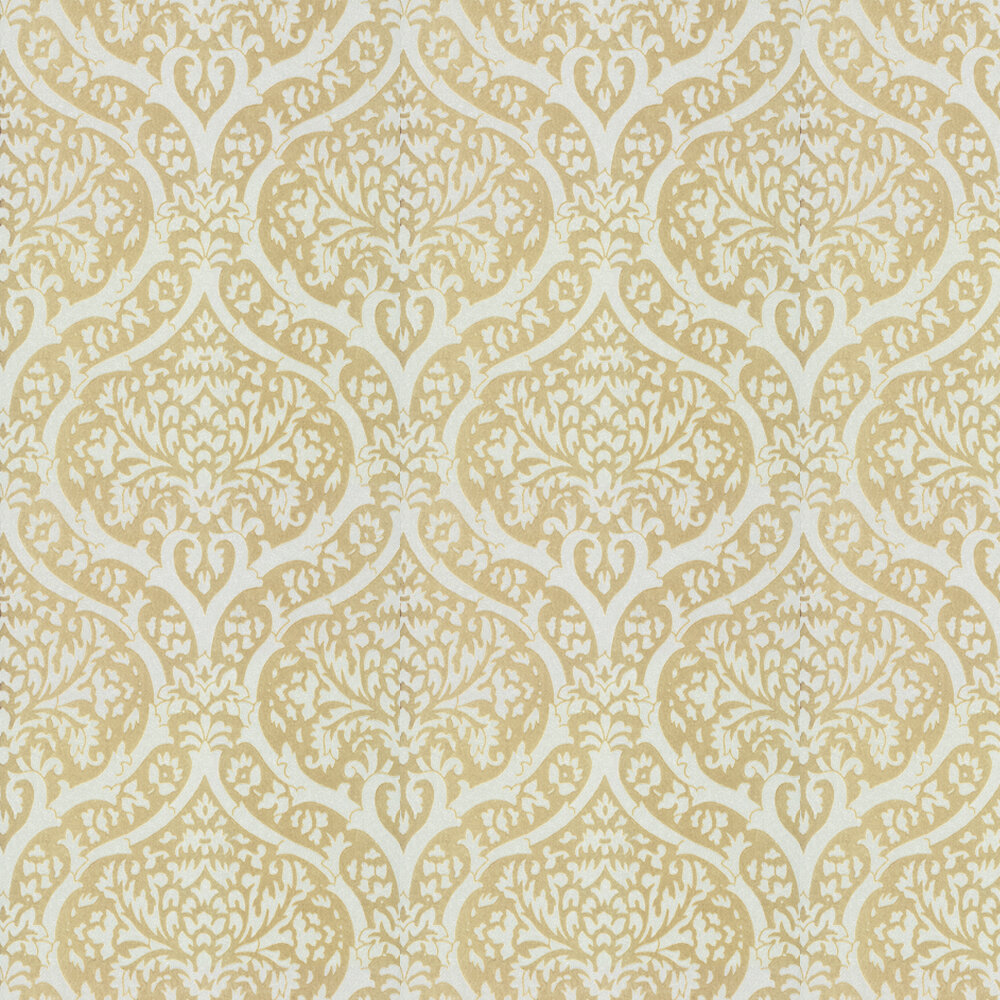 Palladium Flock Wallpaper - Beige / Cream - by Albany