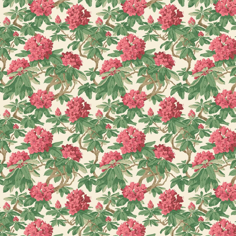 Cole & Son Bourlie Red  Wallpaper - Product code: 99/4019