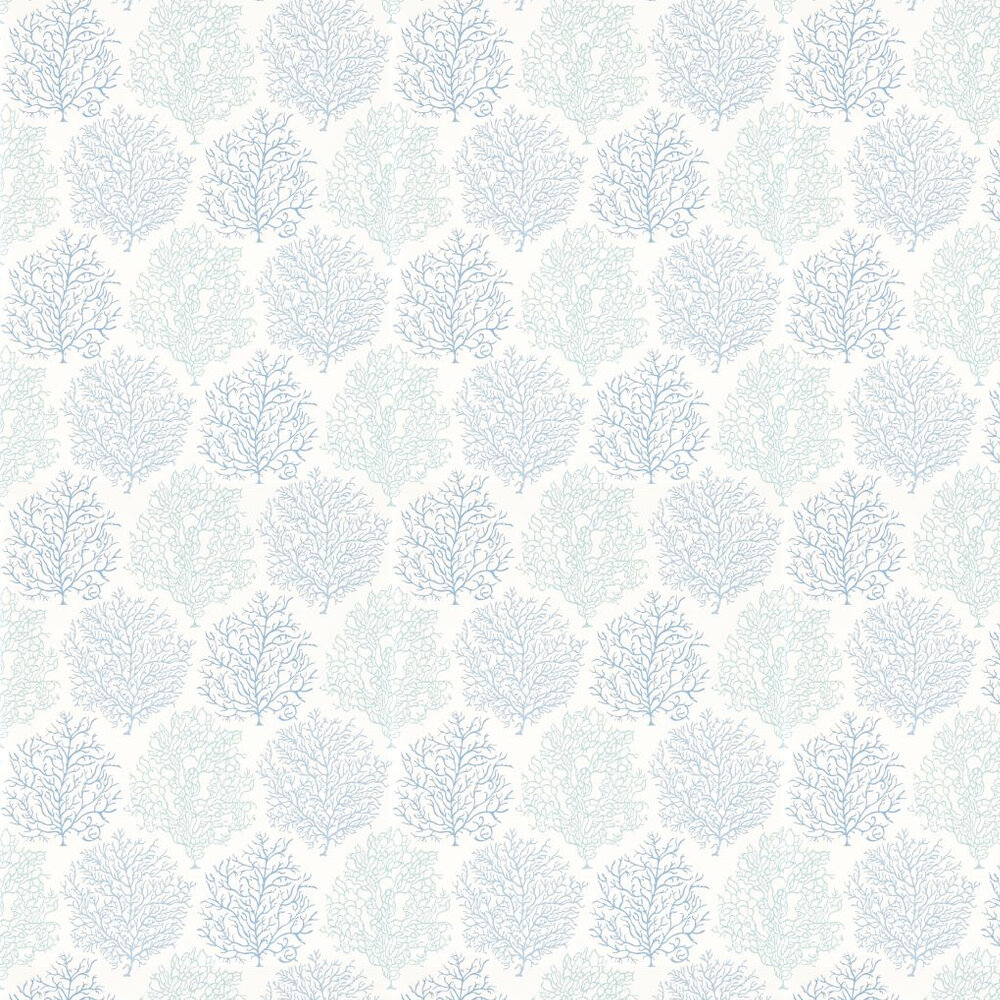 Sanderson Coral Reef Blue / White Wallpaper - Product code: 213390