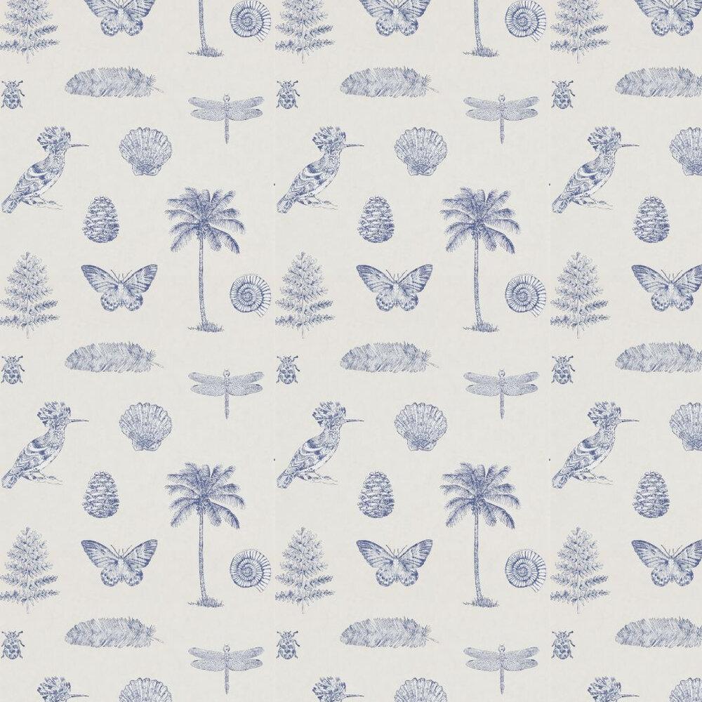 Sanderson Cocos Parchment / Navy Wallpaper - Product code: 213385
