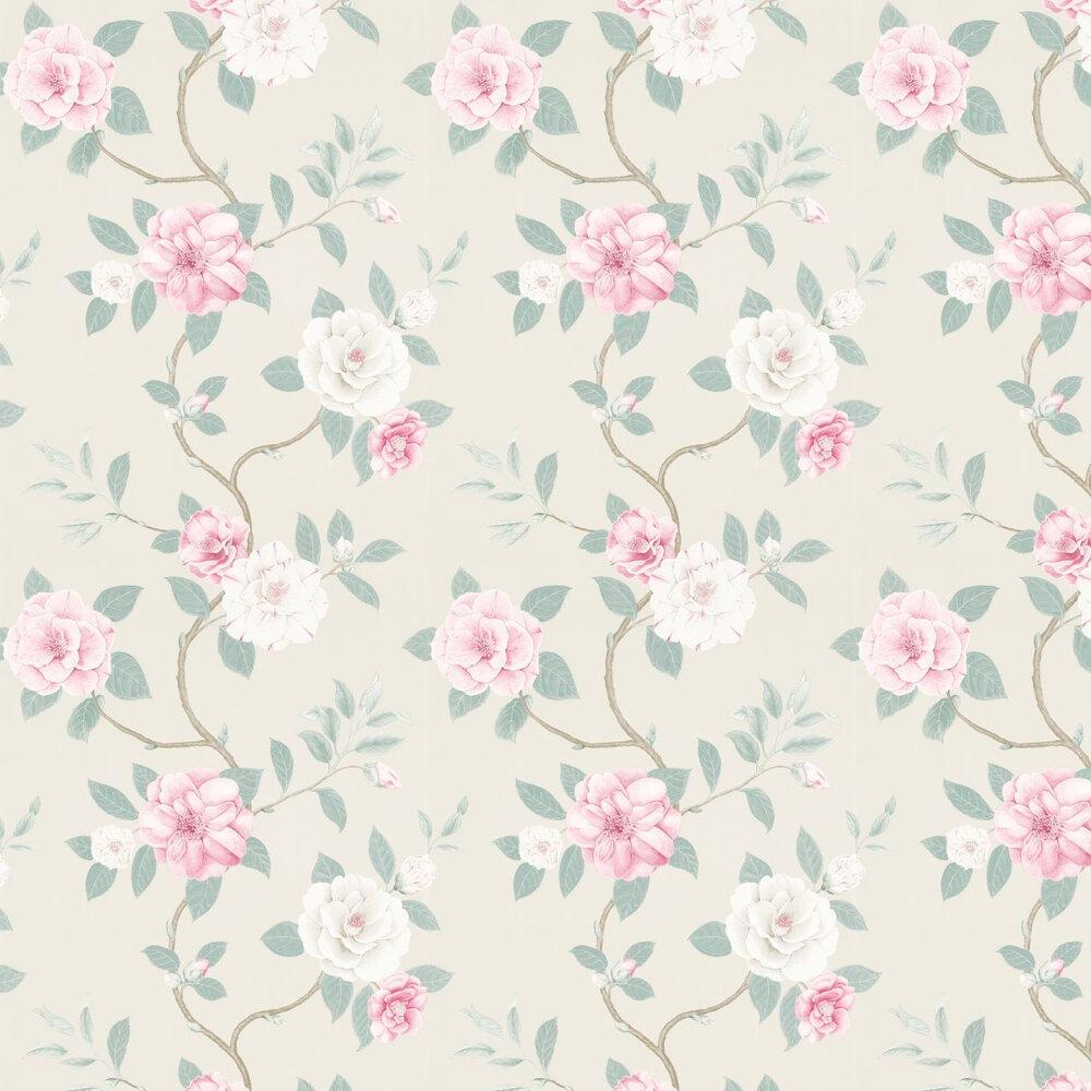 Christabel By Sanderson Pink Blue Wallpaper Wallpaper Direct