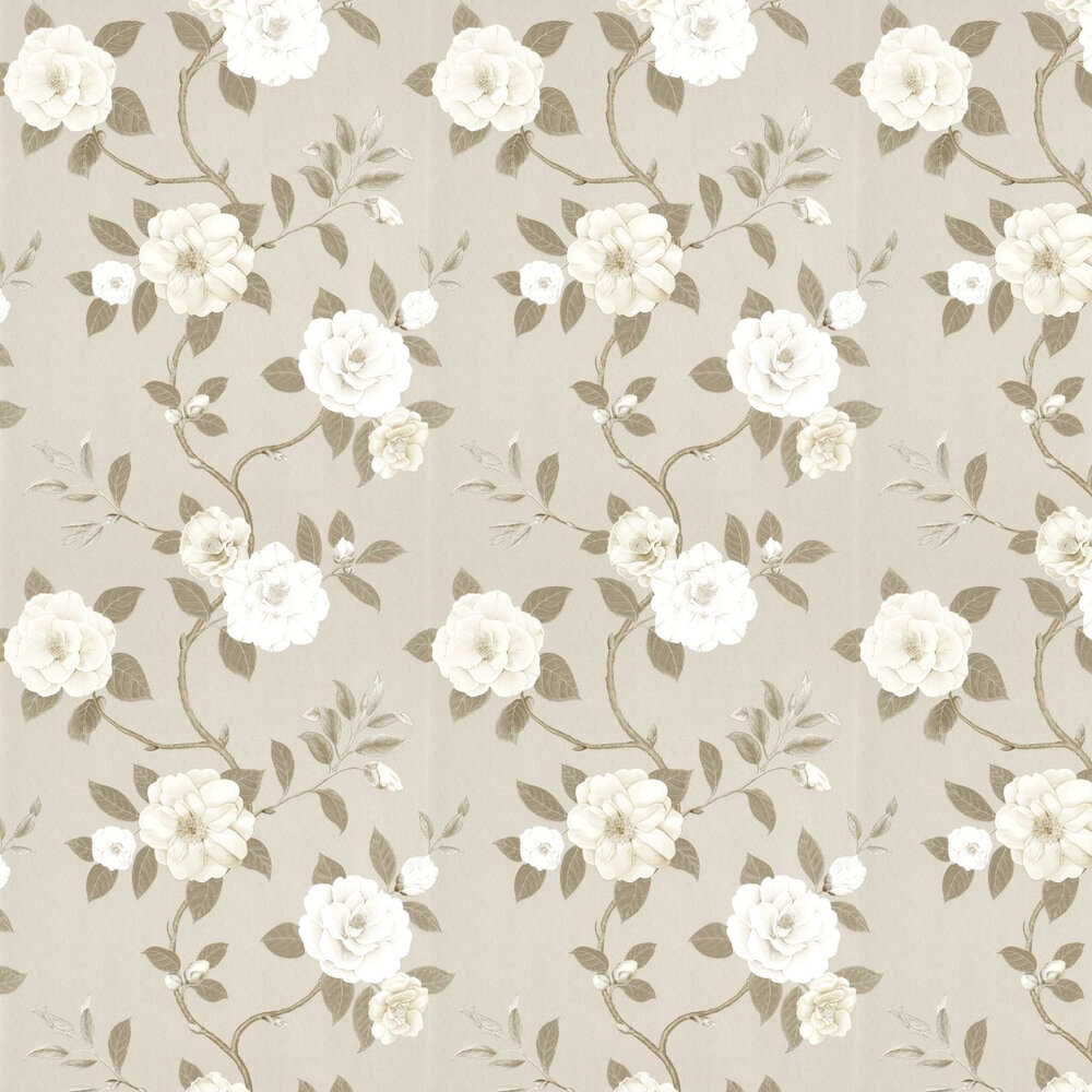 Sanderson Christabel Beige / Taupe / Cream Wallpaper - Product code: 213379