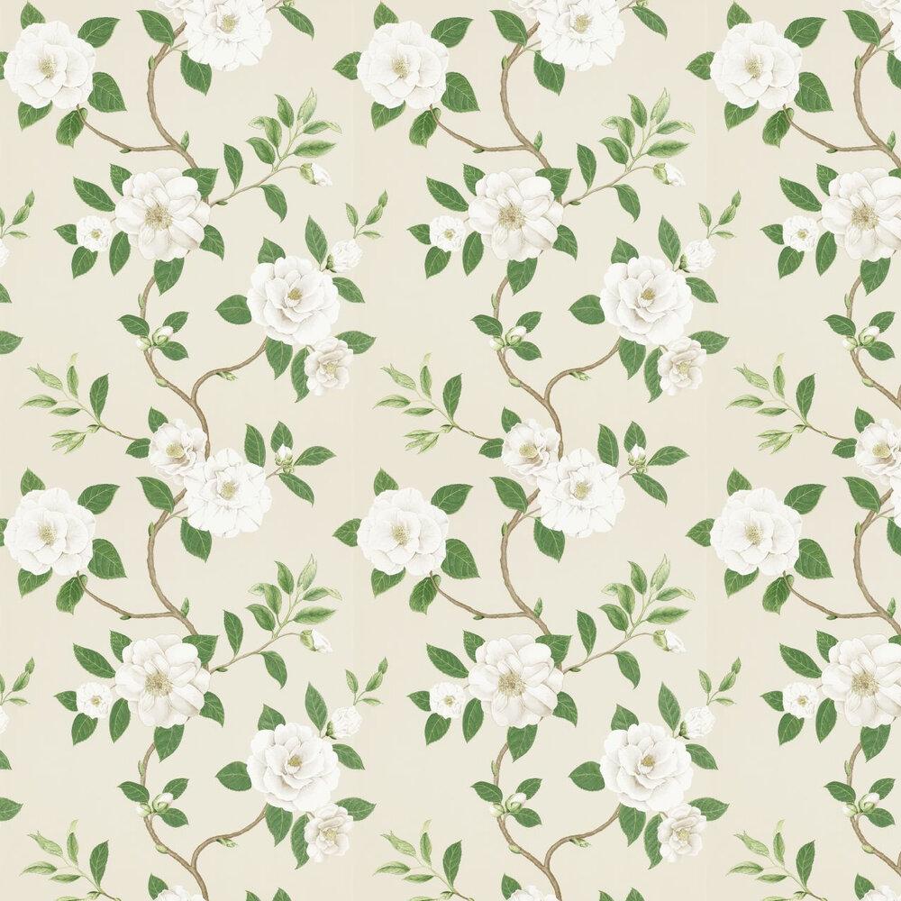 Sanderson Christabel Cream / Green Wallpaper - Product code: 213380